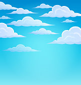 Clouds on sky theme 1