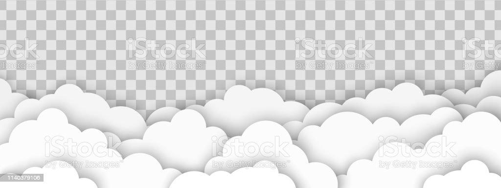 Clouds On Transparent Background Stock Illustration Download