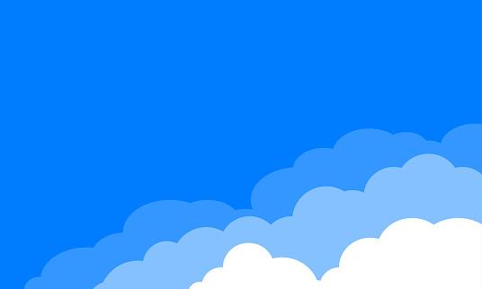 Clouds over blue sky background. Vector illustration.