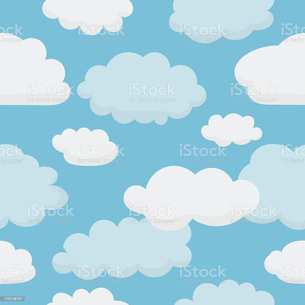 Clouds Pattern vector art illustration