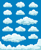 Vector illustration of the clouds set