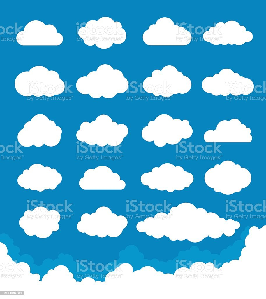 Clouds Set vector art illustration