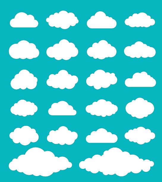 chmury zestaw - clouds stock illustrations
