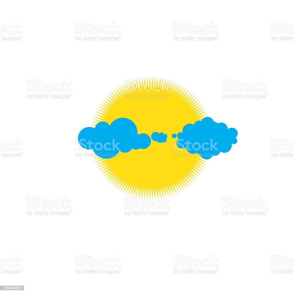 Clouds Set vector art illustration