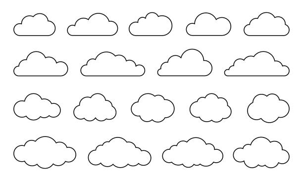 Clouds Set - Vector Stock Collection Clouds Set - Vector Stock Collection clouds stock illustrations