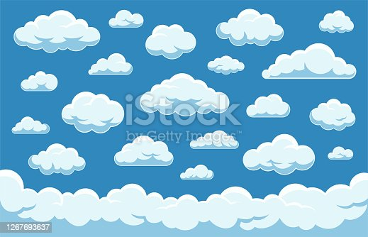 Clouds Set - Vector Stock Collection
