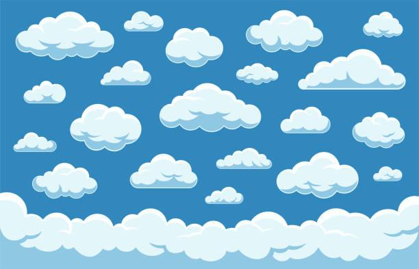 雲集 - 向量庫存集合。 - clouds 幅插畫檔、美工圖案、卡通及圖標