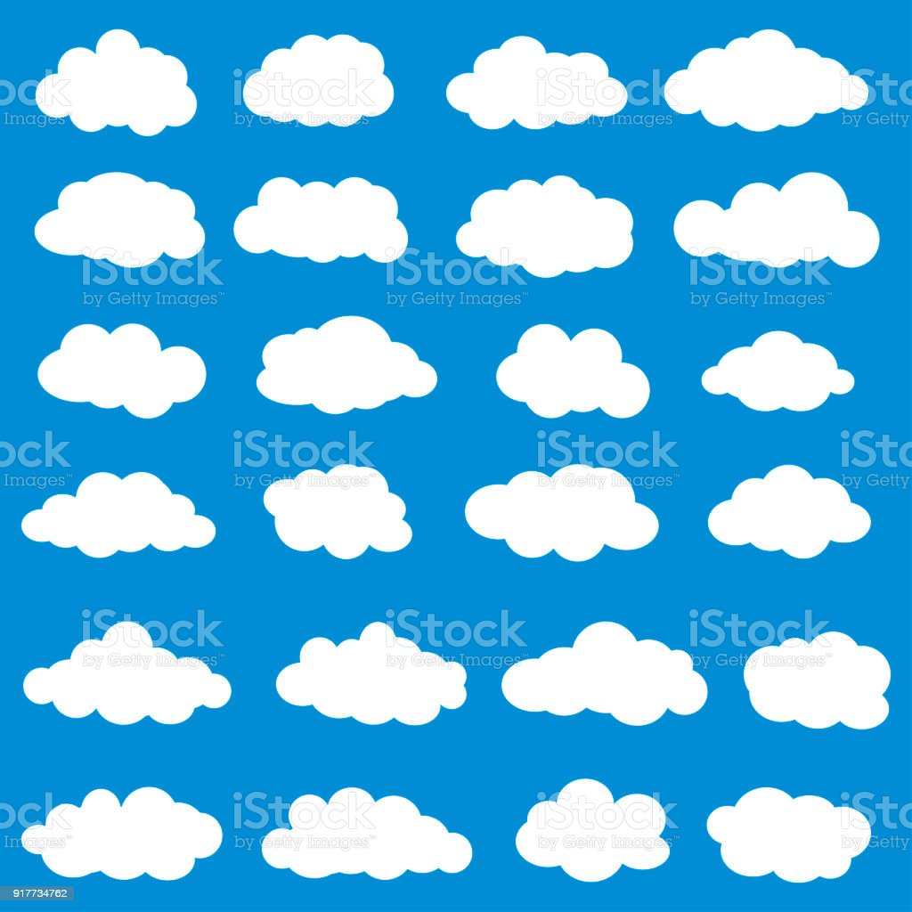 Clouds set vector. Vector illustration of clouds collection vector art illustration
