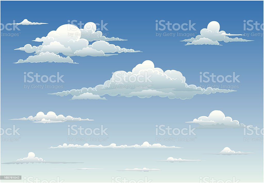 Clouds royalty-free clouds stock vector art & more images of blue