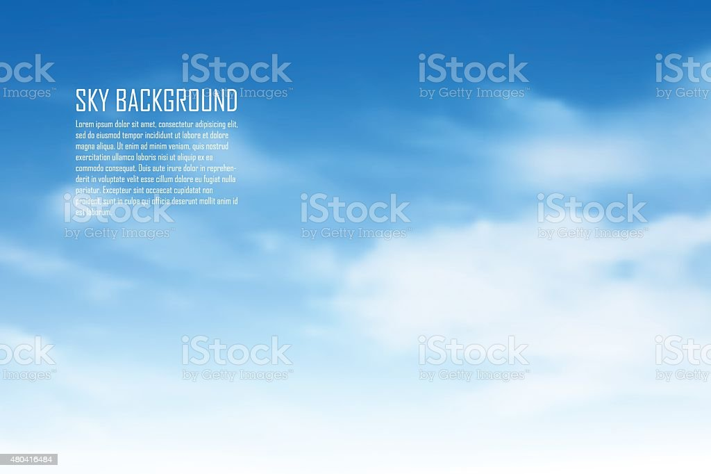 Clouds vector art illustration