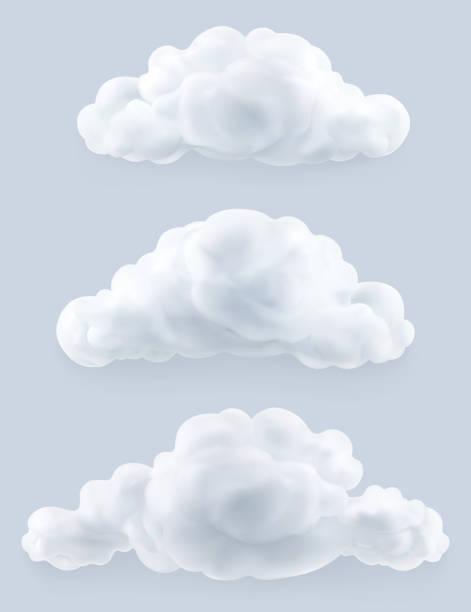 chmury, zestaw wektorów - chmura stock illustrations