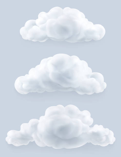 clouds, vector set - clouds stock illustrations
