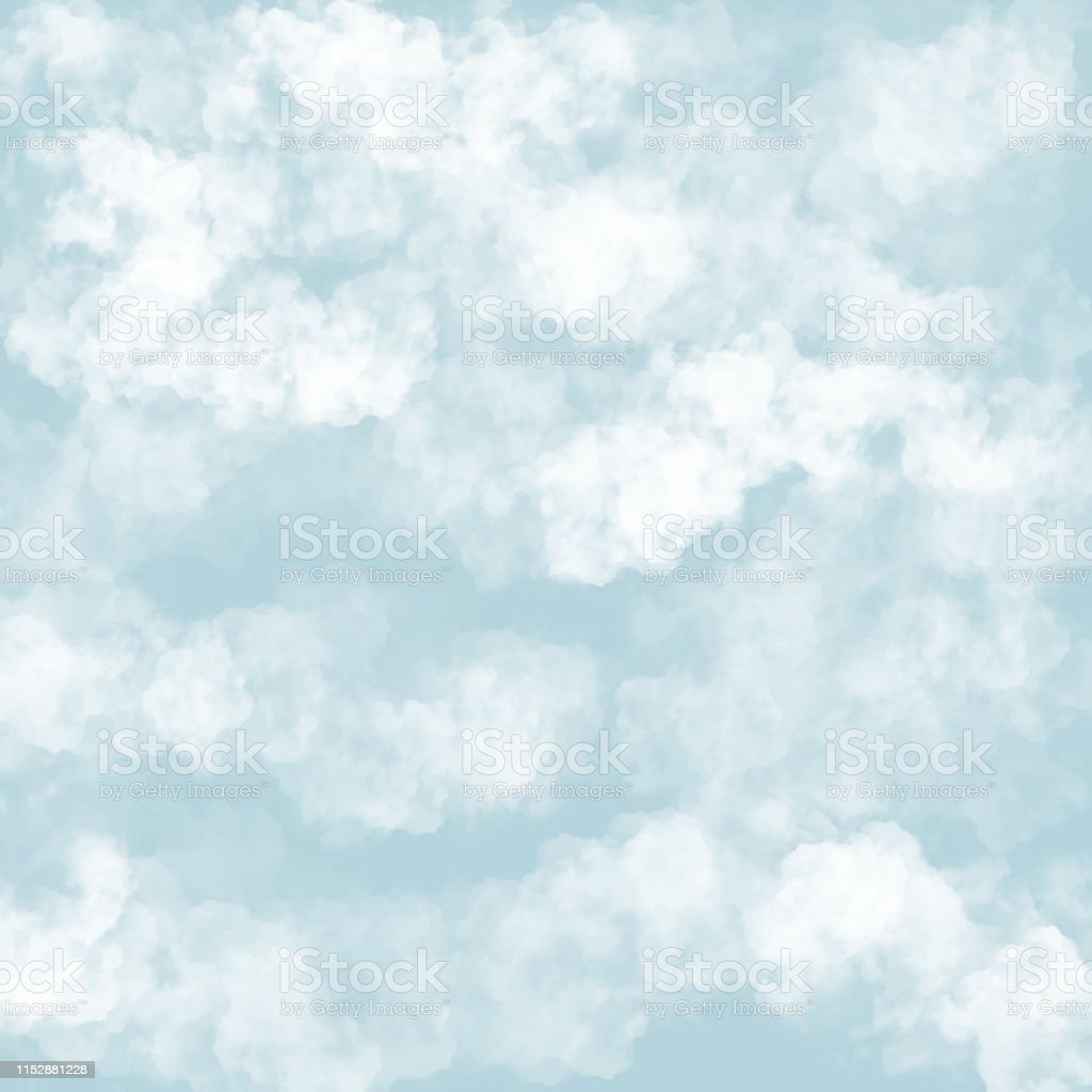 Clouds With Blue Background Baby Shower Invitation Cards