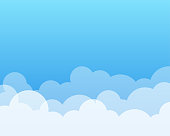 Clouds with blue clear sky nature background with space on beside for text.
