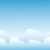 Clouds with blue sky landscape vector background with space on beside for text.