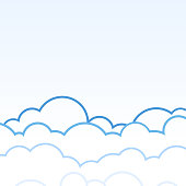 Clouds with blue sky nature background with space on beside for text.