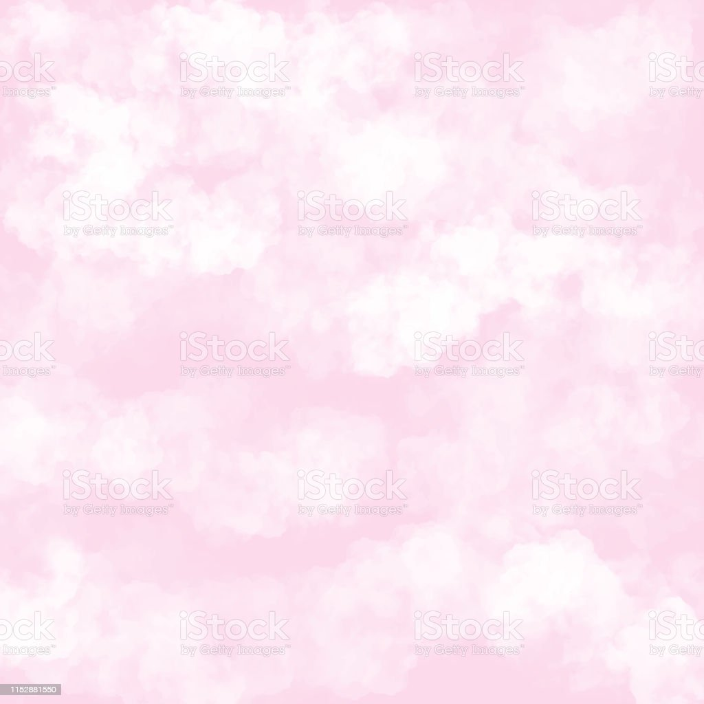 Clouds With Pink Background Baby Shower Invitation Cards Background Nursery Room Wallpaper Stock Illustration Download Image Now Istock
