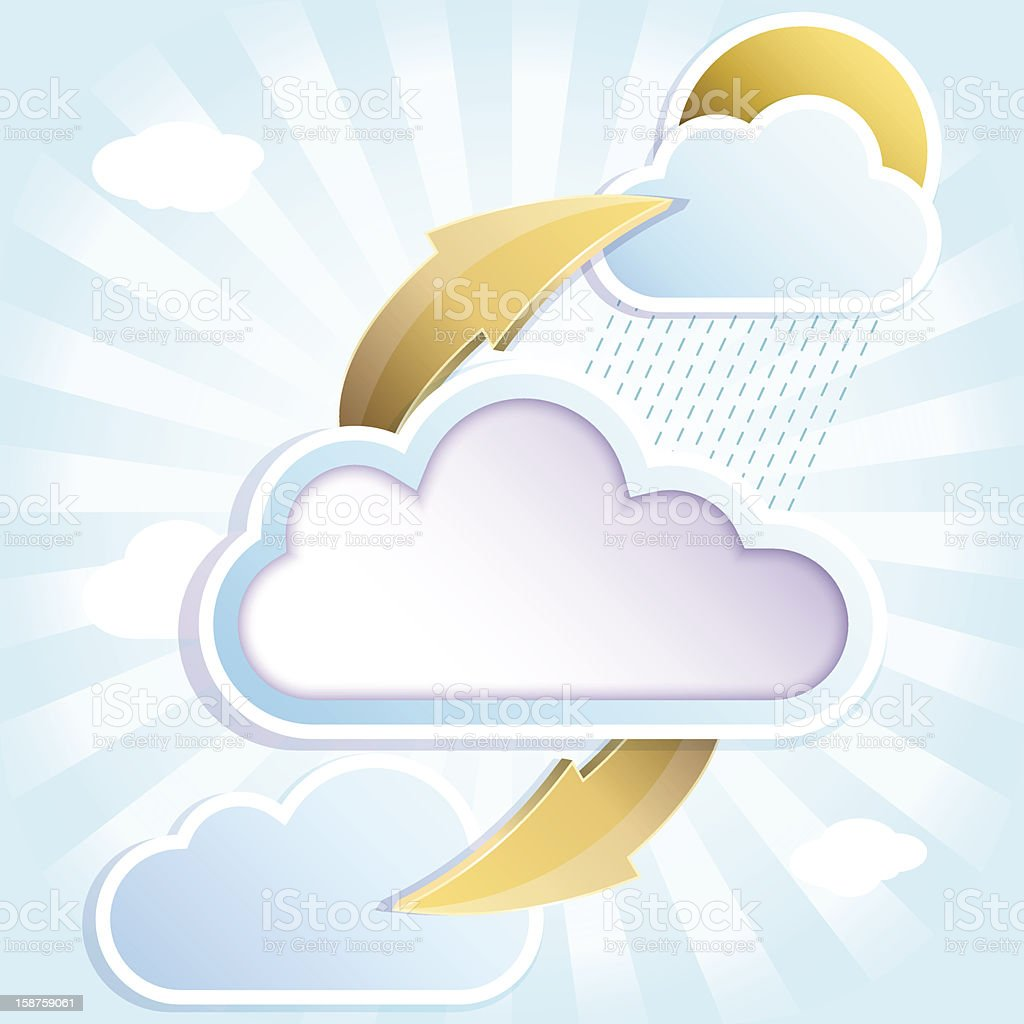 clouds with rain royalty-free stock vector art