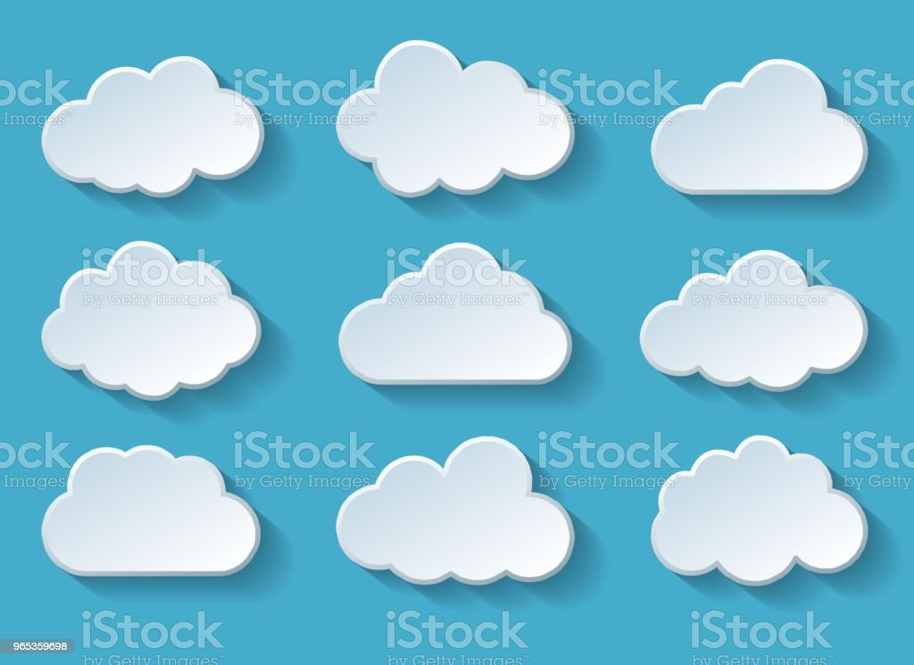 Clouds with shadow royalty-free clouds with shadow stock vector art & more images of abstract