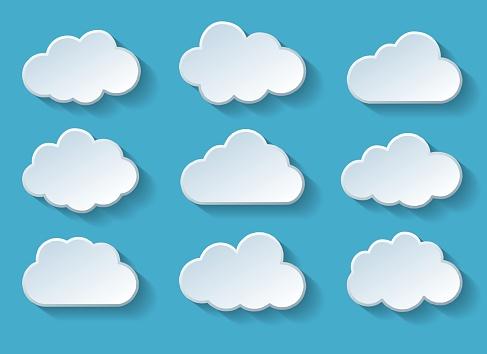 Clouds With Shadow - Stockowe grafiki wektorowe i więcej obrazów Abstrakcja