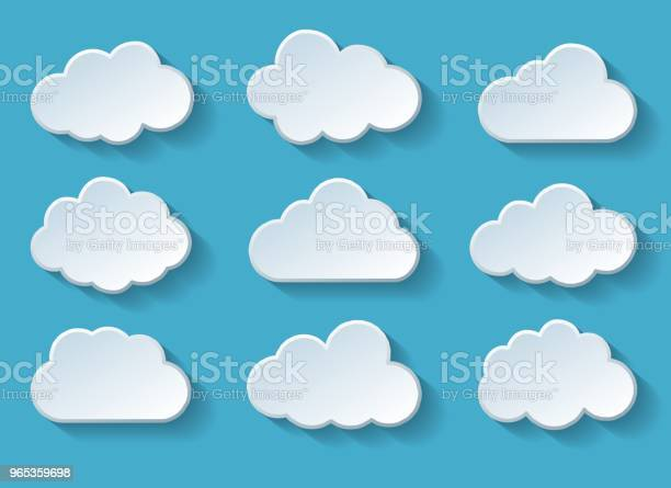 Clouds With Shadow Stock Illustration - Download Image Now