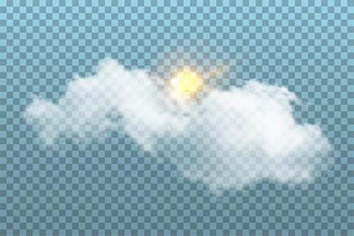 Símbolos del tiempo claro y soleado vector gratis