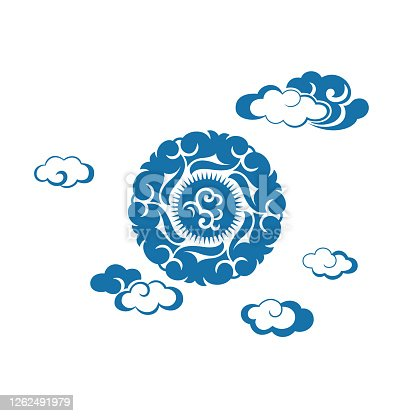 istock Cloudscape design(China paper-cut patterns) 1262491979