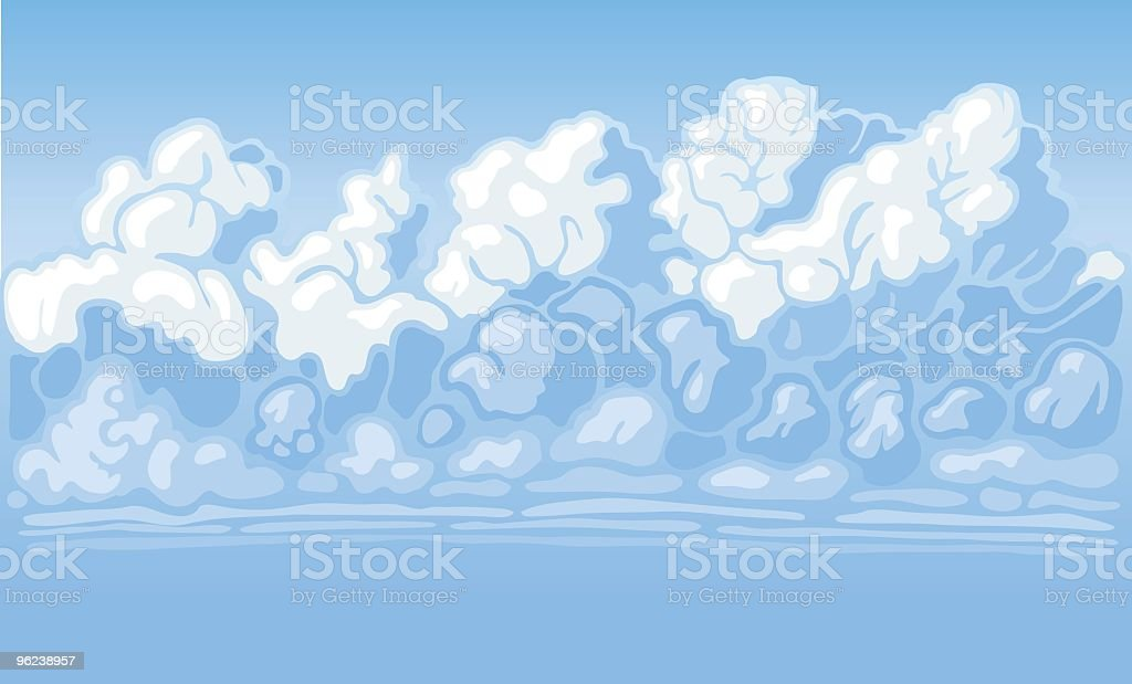 Cloudscape Full royalty-free stock vector art