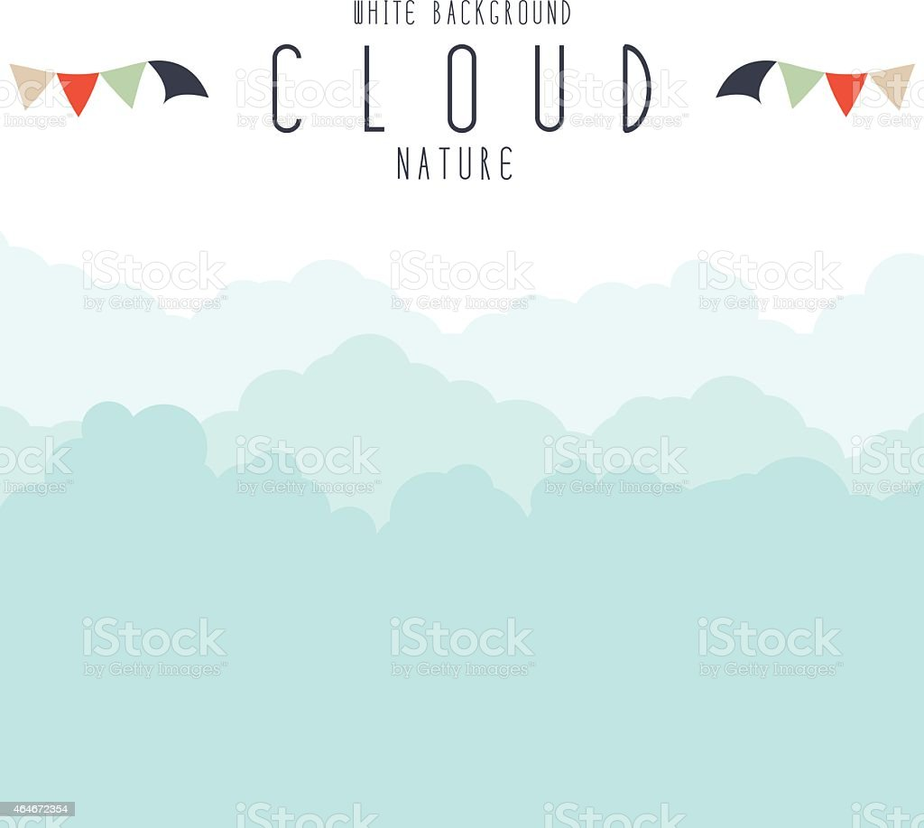 Cloudscape or fog background. vector art illustration