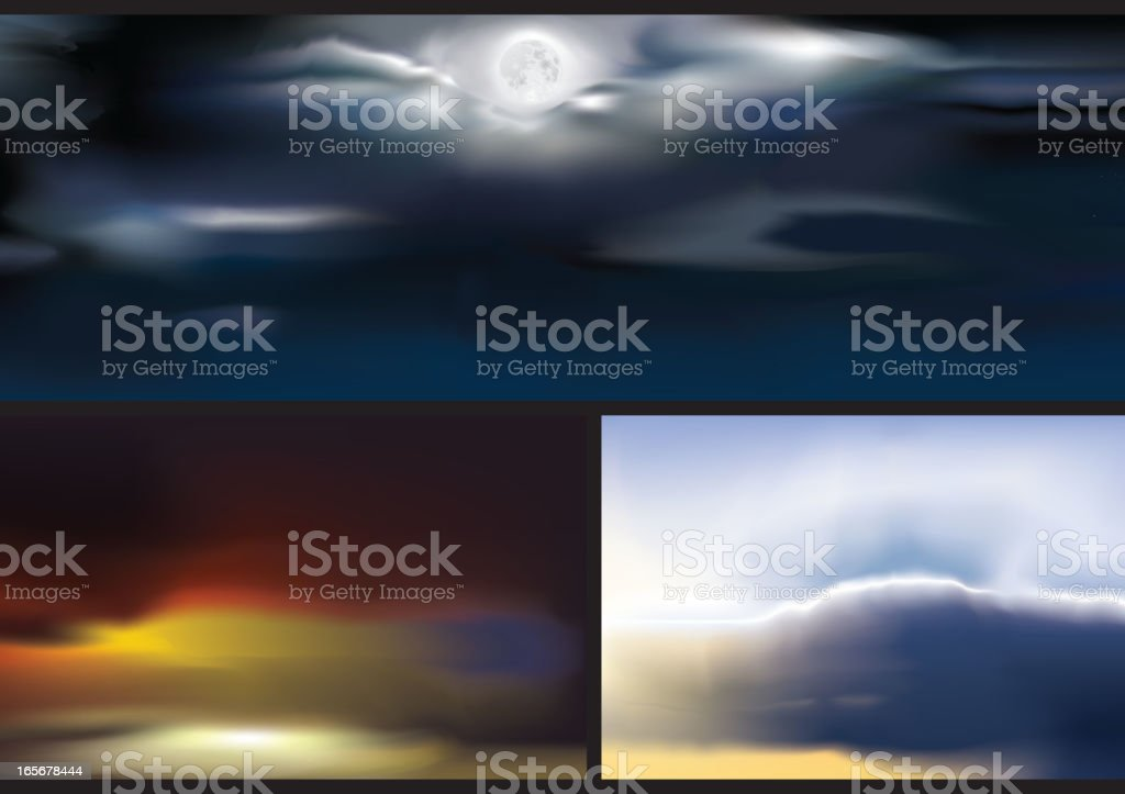 Cloudscape royalty-free stock vector art