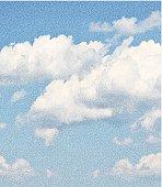 Mezzotint illustration of a cloudscape.