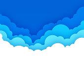 istock Cloudscape with Blue Sky Cartoon Background 1273468057