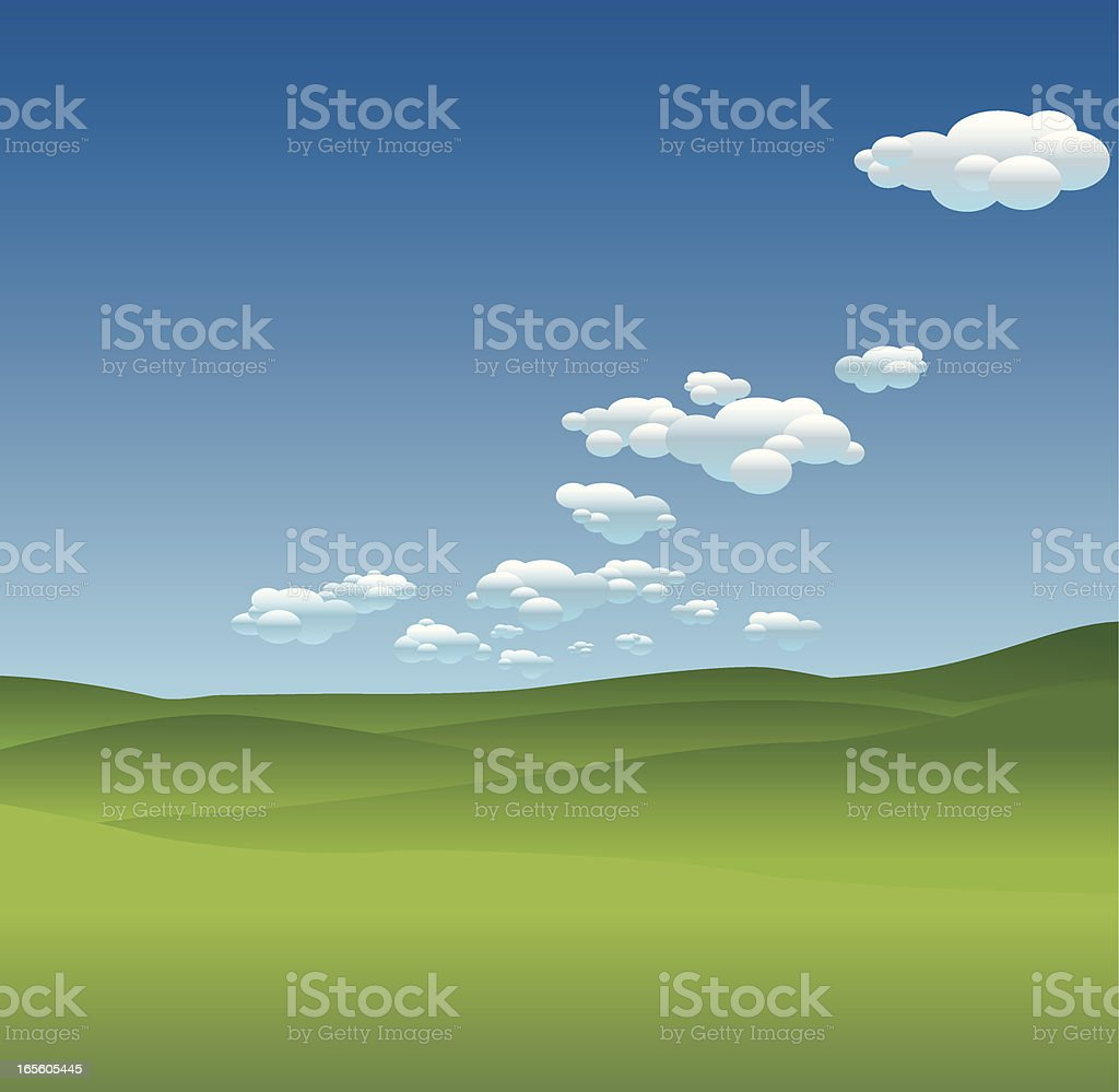 Cloudy Landscapes royalty-free stock vector art