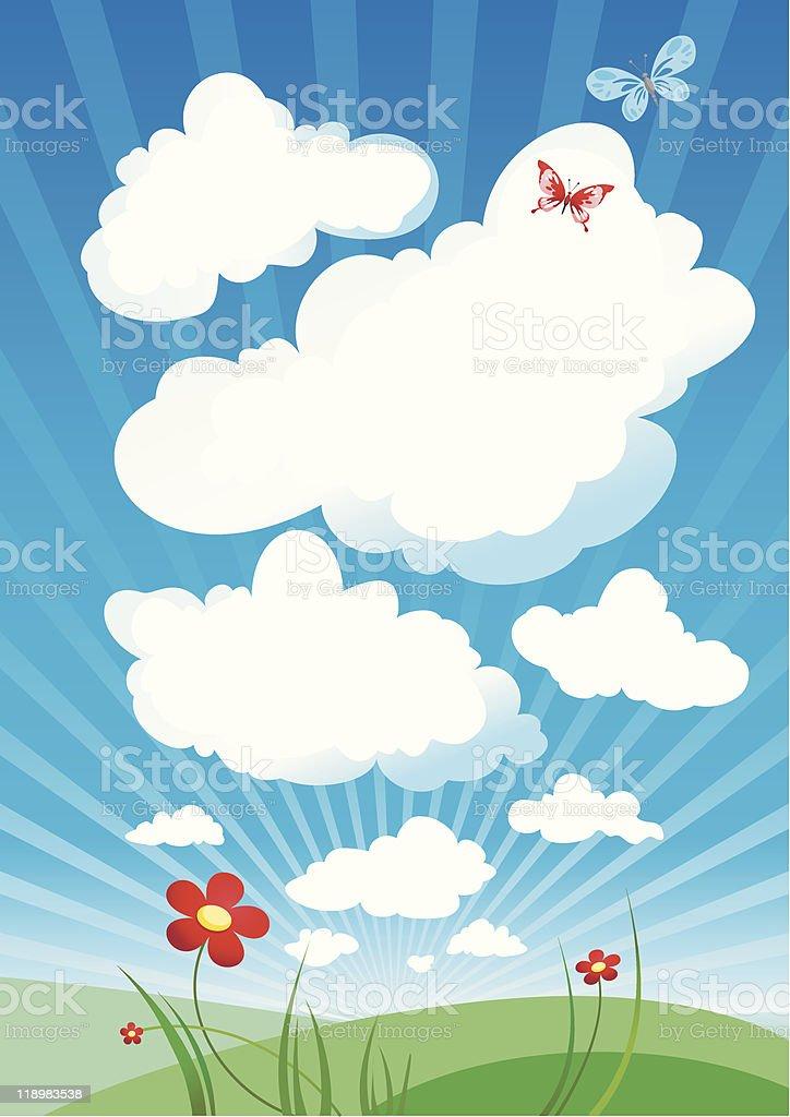 Cloudy sky royalty-free stock vector art