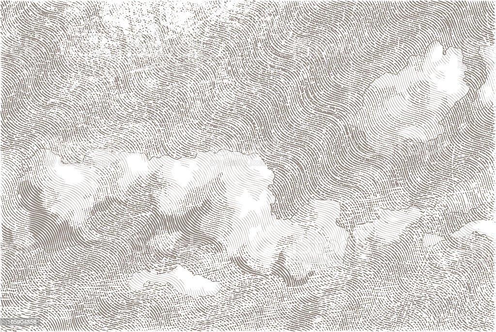 Bewölkten Himmel – Vektorgrafik