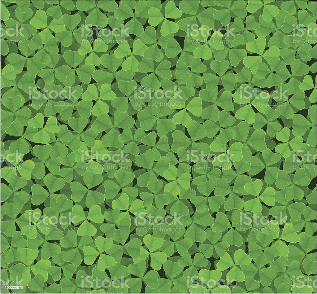 clover background vector art illustration