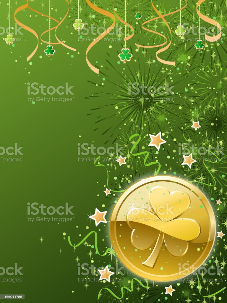 Clover Coin Background royalty-free clover coin background stock vector art & more images of
