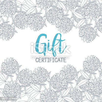 Clover Flowers A Template Of The Gift Certificate For Flower Stock ...