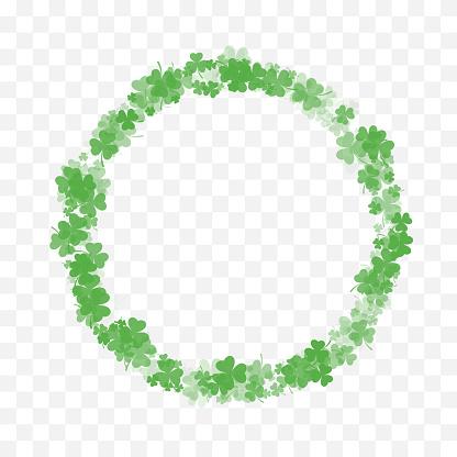Clover Leaf Circular Frame, Border