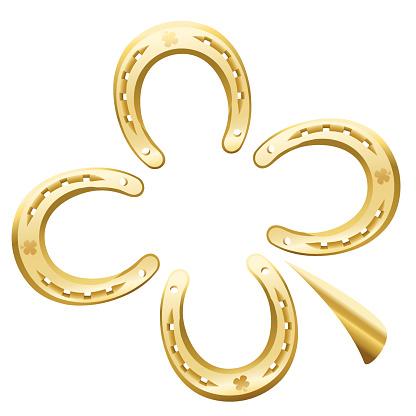 Clover Leaf Horseshoe Luck Symbol