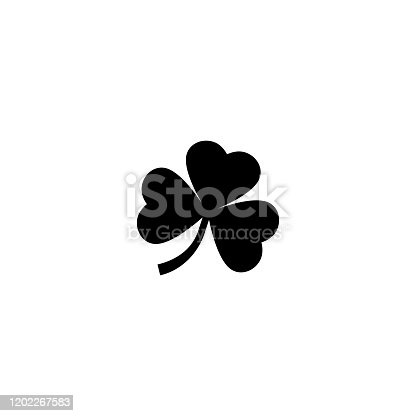 Clover leaf icon silhouette simple design. Vector
