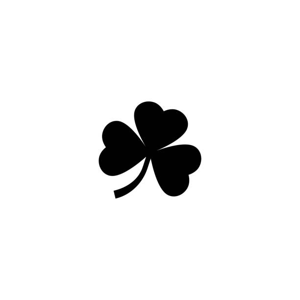 Clover leaf icon silhouette simple design Clover leaf icon silhouette simple design. Vector shamrock stock illustrations