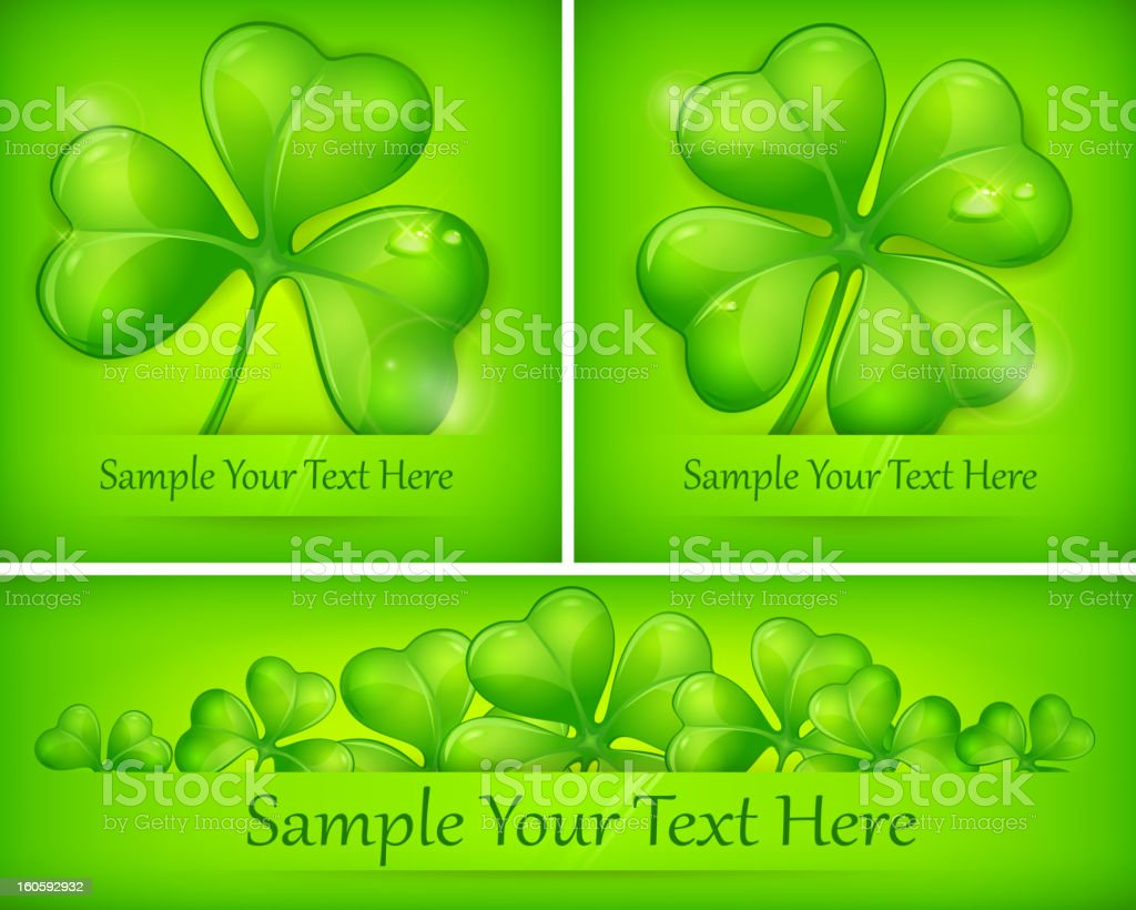 Clover leaves on green royalty-free clover leaves on green stock vector art & more images of celebration