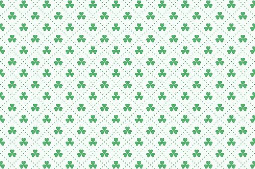 clover leaves pattern for st patricks day