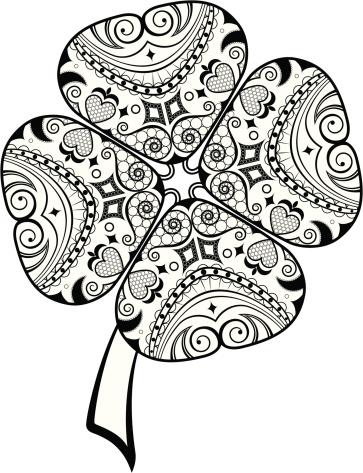 Klee Scroll Designelemente Stock Vektor Art und mehr Bilder von Blatt - Pflanzenbestandteile