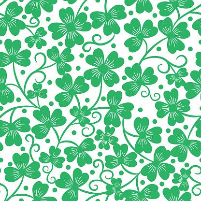 Clover seamless pattern .