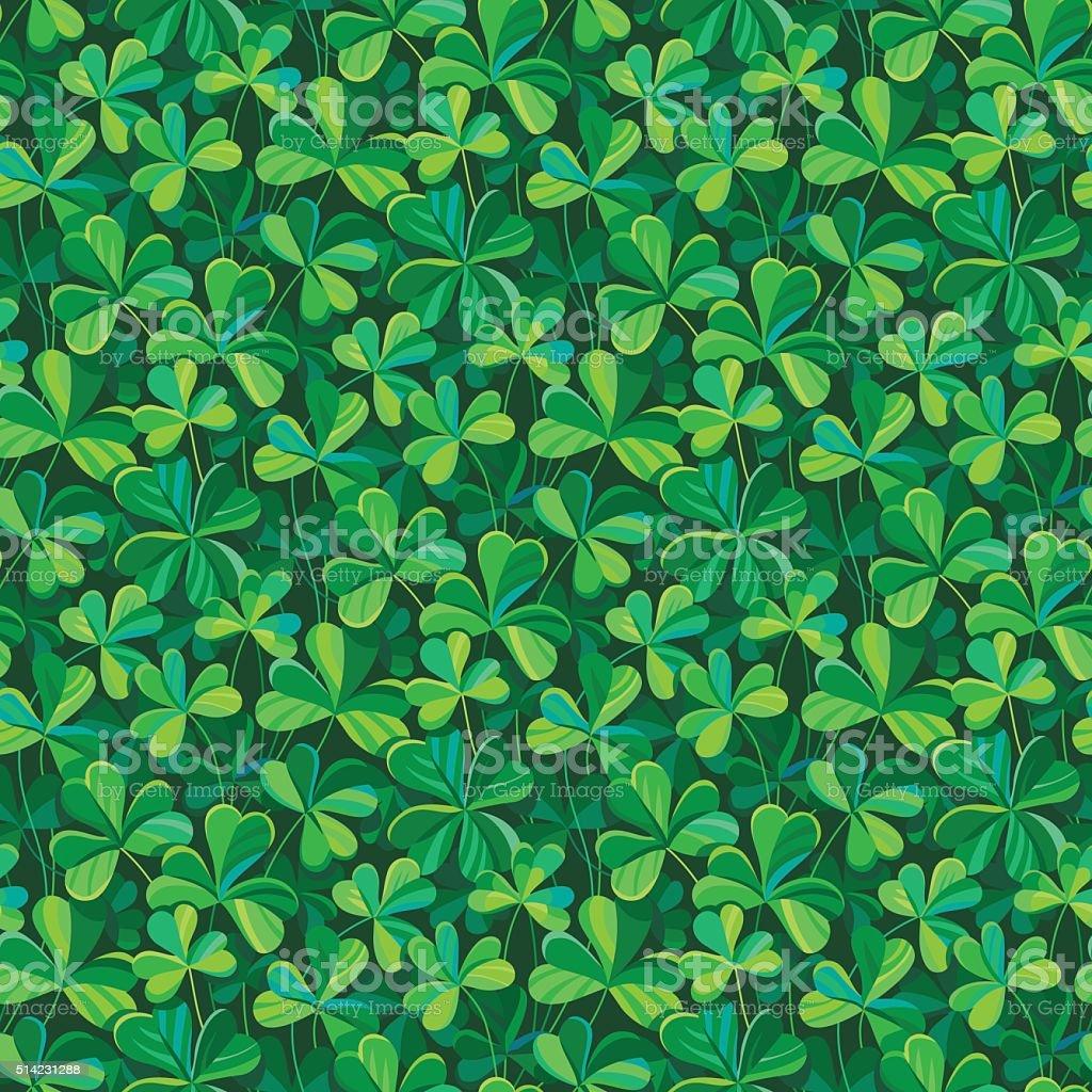 clover seamless pattern vector art illustration