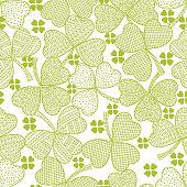 Vector clover seamless pattern .