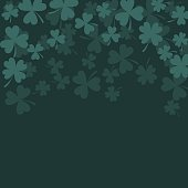 Clover trefoil dark green card background