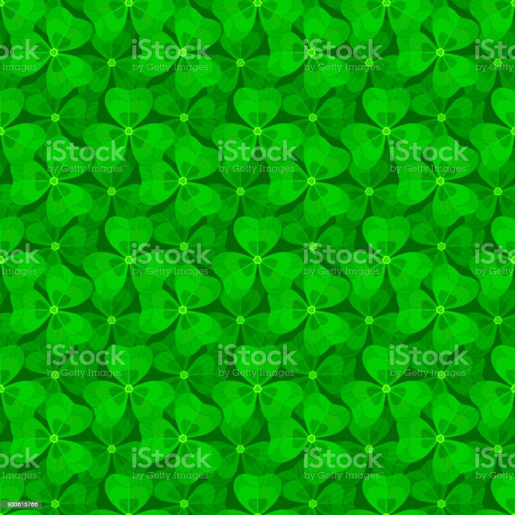 クローバー ベクターのシームレスなパターン自然の背景夏の花の壁紙聖